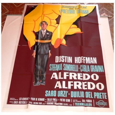 Vendilosubito Manifesto 2 Fogli Originale Del Film Alfredo Alfredo Dustin Hoffman 1972