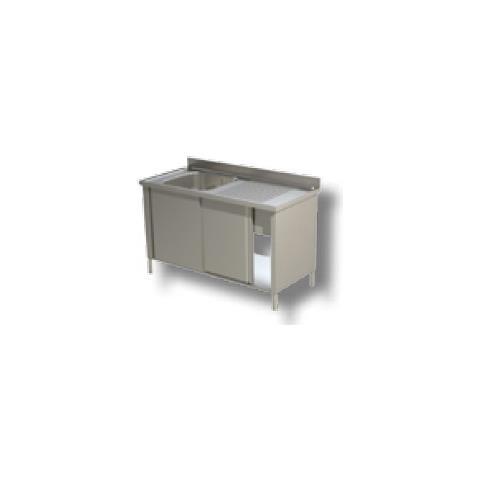 Lavello 140x70x85 Acciaio Inox 430 Armadiato Cucina Ristorante Pizzeria Rs4836