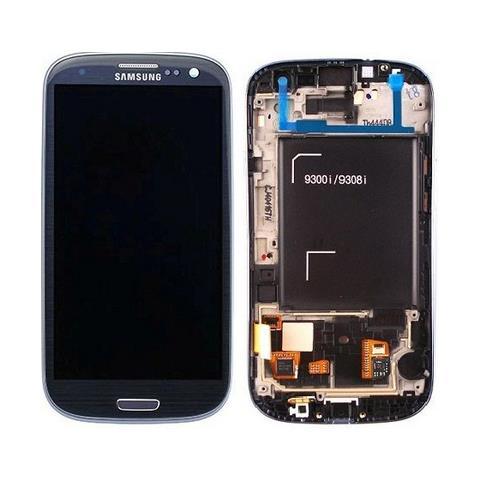 SAMSUNG Schermo LCD + Touch Screen di Ricambio per Smartphone Blu GH97-15472A