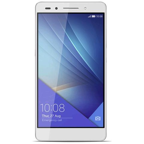"HONOR 7 Argento 16 GB 4G/LTE Dual Sim Display 5.2"" Full HD Slot Micro SD Fotocamera 20 Mpx Android Italia"