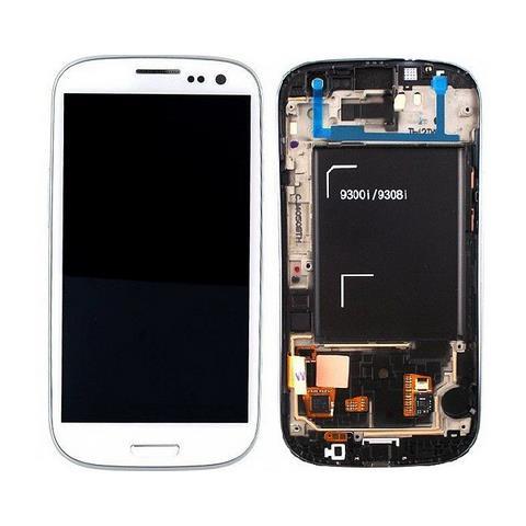 SAMSUNG Schermo LCD + Touch Screen di Ricambio per Smartphone Bianco GH97-15472B