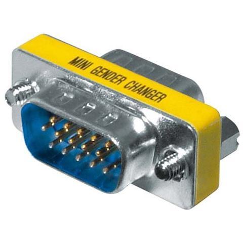 TECLINE VGA M / M, VGA, VGA, Blu, Acciaio inossidabile, Giallo, Maschio / maschio