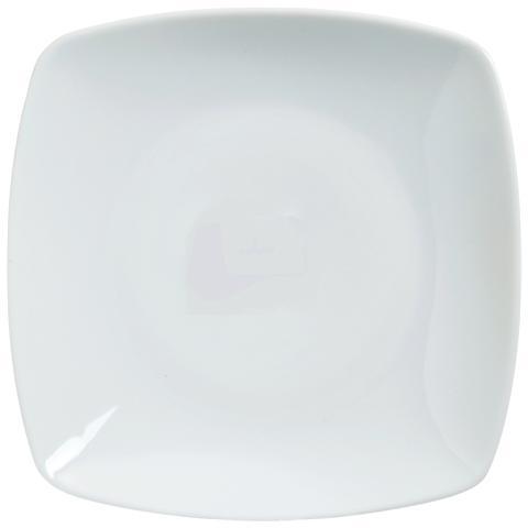 EXCELSA Piatto Frutta Bianco in Porcellana Quadro 20,0 x 20,0 cm