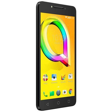 """ALCATEL A5 Led Nero 16 GB 4G / LTE Display 5.2"""" HD Slot Micro SD Fotocamera 8 Mpx Android Italia"""