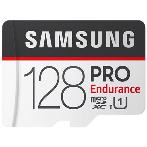 SAMSUNG MicroSD PRO Endurance da 128GB Velocità UHS-I U1 di Classe 10 fino a 100 MB / s in Lettura + Adattore SD