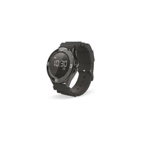 "Techmade Smartwatch TechWatchONE Round Display 1.22"" Bluetooth con Conturino in Gomma Nero – Europa"