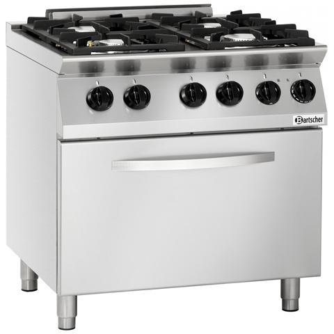 1582001 Cucina a Gas 4 fuochi con Forno elettrico GN2/1