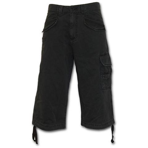 SPIRAL Metal Streetwear Vintage Cargo Shorts 3/4 Long Black (Pantalone Corto Uomo Tg. M)