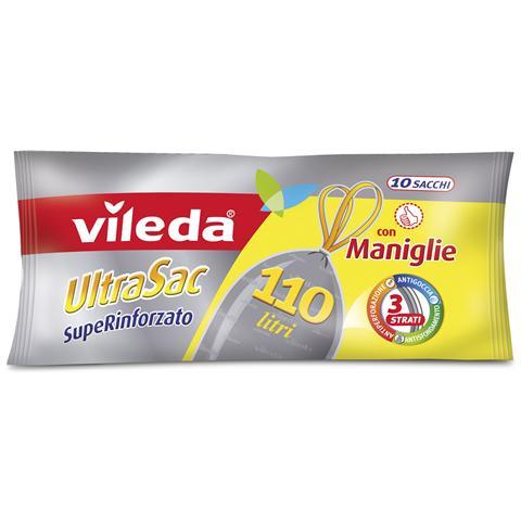 Vileda Sacchi 80x105 Con Maniglie Superrinfescante X 10 Pezzi Riordino