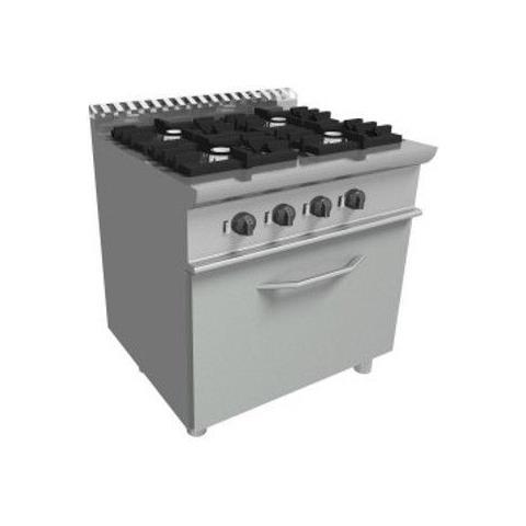 Cucina 4 Fuochi a gas con forno elettrico - Dim. cm. 70x70x85h