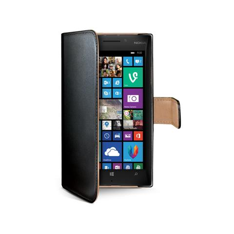 CELLY black pu wallet case lumia 930