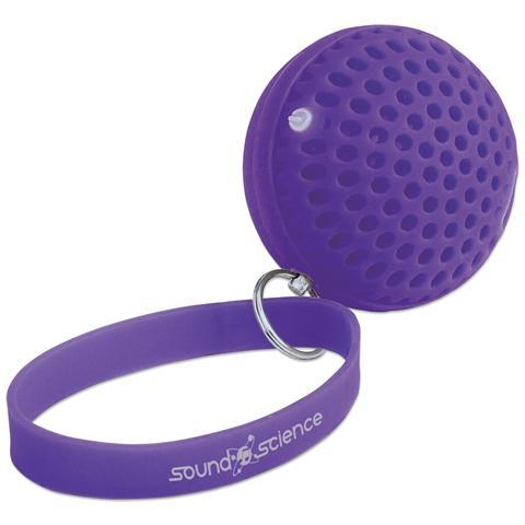 MANHATTAN Speaker Portatile Bluetooth Wireless Luminoso Atom Viola 3 W