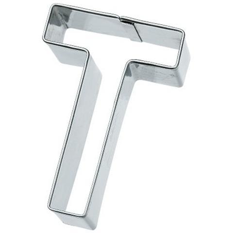 Tagliapasta Lettera T In Metallo 6 Cm