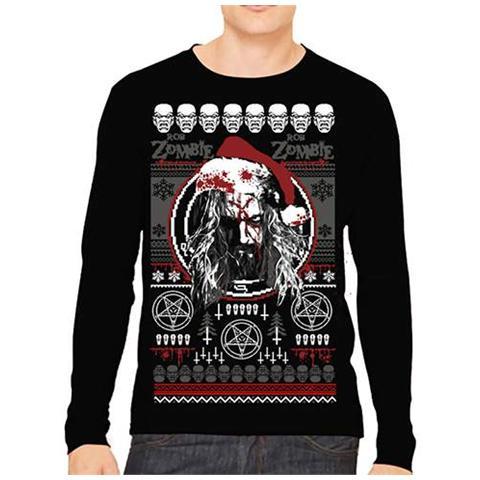 ROCK OFF Rob Zombie - Bloody Santa (Felpa Unisex Tg. S)