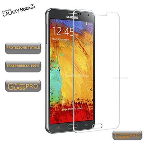 Smartechnology Pellicola Vetro Temperato Per Galaxy Note 3 N9000 N9005 Trasparente Clear Protezione Display Schermo Touch Screen Infrangibile
