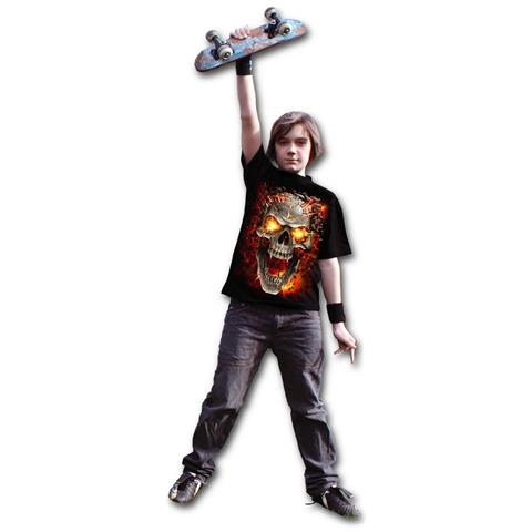SPIRAL Skull Blast - Black (T-Shirt Bambino Tg. XL)