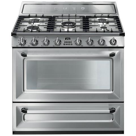 SMEG - Cucina Elettrica TR90X9 5 Fuochi a Gas Forno Elettrico ...
