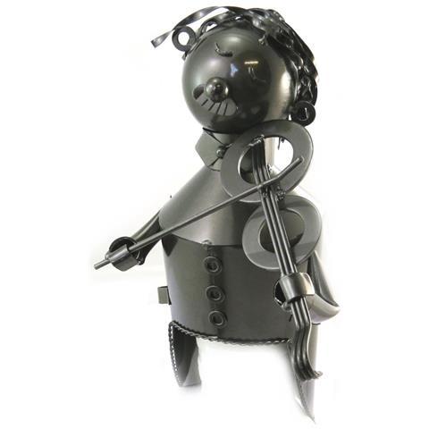 Les Trésors De Lily bottle holder 'sculpture métal' violinista - [ n5490]