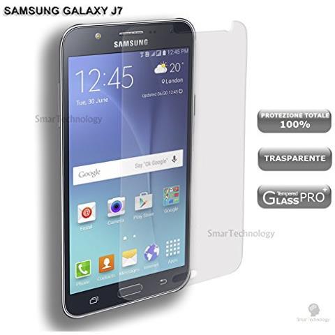 Smartechnology Pellicola Vetro Temperato Per Samsung Galaxy J7 J700f Trasparente Clear Proteggi Display Salva Schermo Touch Screen