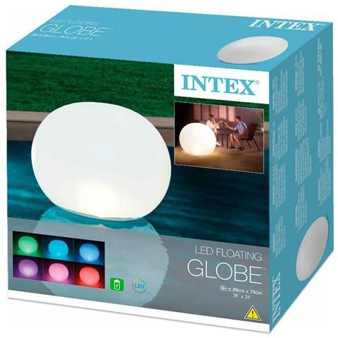 Intex - 68695 Pallone Luminoso Con Batterie Ricaricabili Cm 89x79
