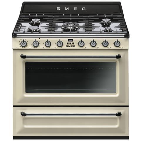 Fornello da cucina TR90P9 Fuochi a Gas Dimensione 90 x 60 cm Colore Creme