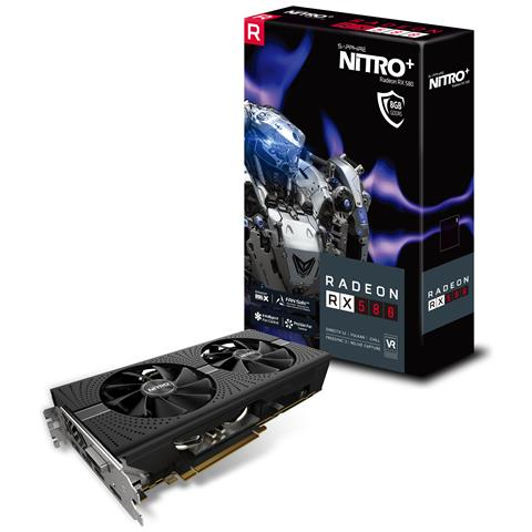 SAPPHIRE Radeon RX 580 8 GB GDDR5 Pci-E DVI-D / 2x HDMI / 2x Display Port NITRO+