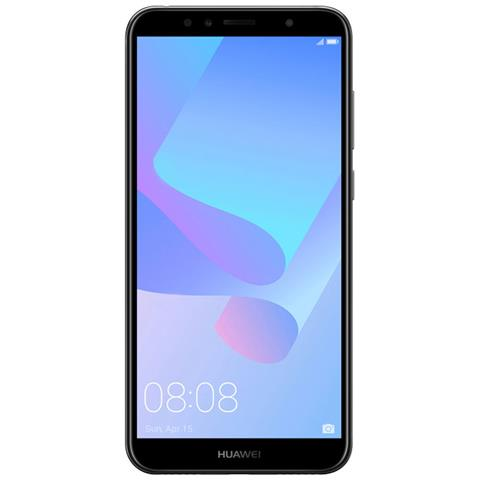 "HUAWEI Y6 2018 Nero 16 GB 4G / LTE Display 5.7"" HD+ Slot Micro SD Fotocamera 13 Mpx Android Tim Italia"