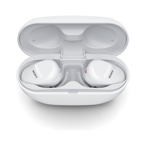 WF-SP800N Auricolari True Wireless Sport con Custodia di Ricarica Colore Bianco