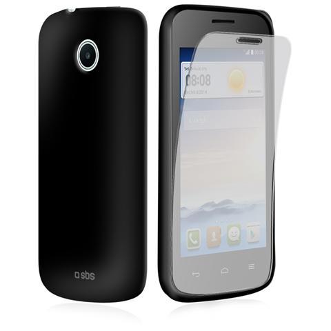 SBS TEAEROHUY330K SMARTPHONE Cover Aero in TPU resistente per Huawei Ascend Y330, pellicola protettiva inclusa, colore nero