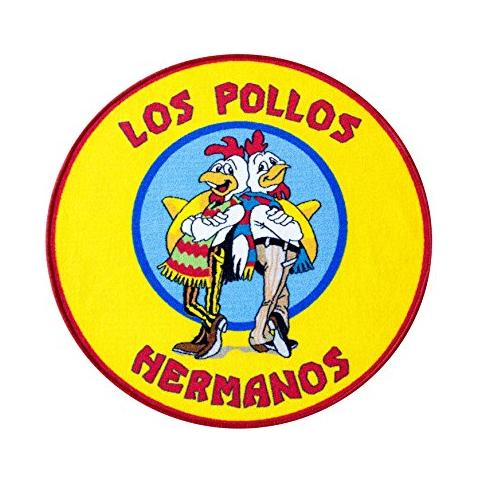 POPTOY Tappeto Tappetino Breaking Bad Rug Los Pollos Hermanos 90 X 90 Cm