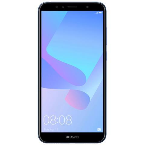 "HUAWEI Y6 2018 Blu 16 GB 4G / LTE Display 5.7"" HD+ Slot Micro SD Fotocamera 13 Mpx Android Tim Italia"