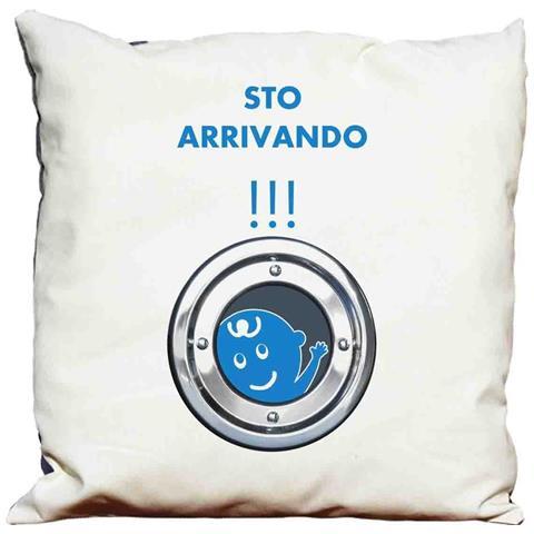 Cuscino Decorativo Donne Incinte 2 - Sto Arrivando !!! (maschietto)