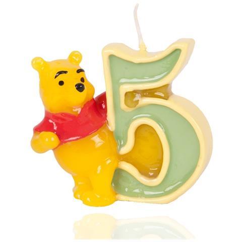 GIOCOPLAST Winnie The Pooh - Candelina Numero 5