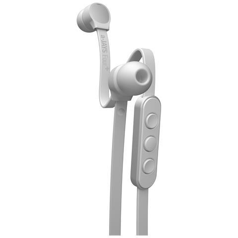JAYS Four+ Auricolare Stereofonico Cablato Argento, Bianco auricolare per telefono cellulare