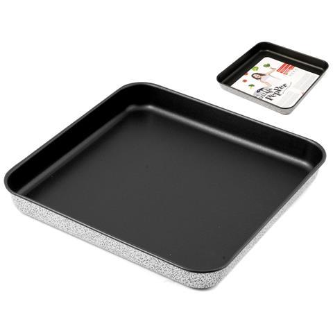 Teglia per Pizza Antiaderente Dimensioni 35x35 cm - Linea Salt Pepper