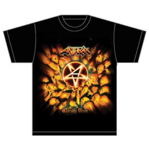 ROCK OFF Anthrax - Worship Music (T-Shirt Unisex Tg. M)