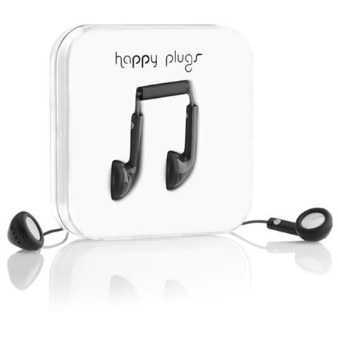 """Happy Plugs Earbud, Stereofonico, Nero, Interno orecchio, Cablato, 10 mW, 3.5 mm (1/8"""")"""
