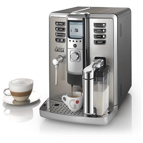 Accademia Macchina Caffè Espresso Serbatoio 1,6 Litri Potenza 1500 Watt Colore Inox