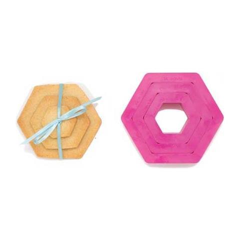 Set 3 tagliapasta esagono 1,5-2,5-3,5h. 2,2cm