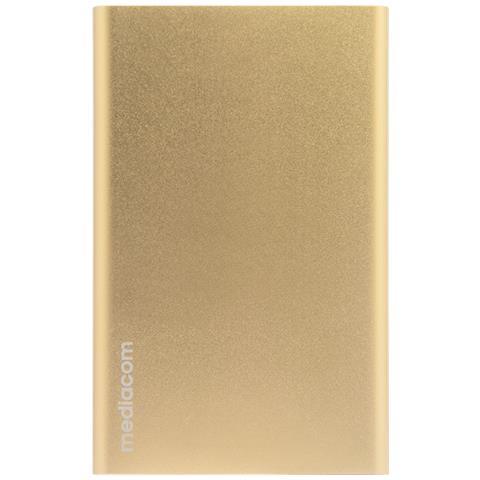MEDIACOM PowerBank da 5000 mAh 1 x USB Colore Oro