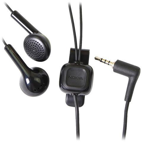 Nokia Cuffie Auricolari Stereo Headset 3.5mm Wh-101 Hs-105 Nero