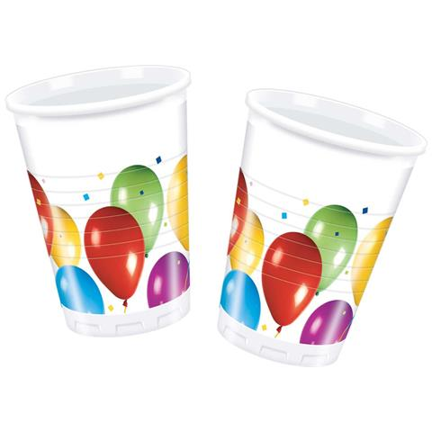 Baloon Fiesta - 10 Bicchieri Plastica 200 Ml