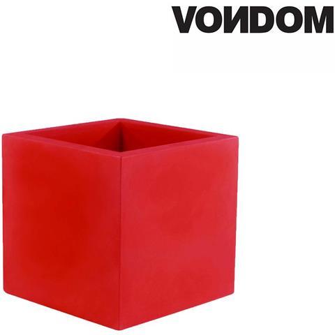 Modello Vaso Cubo - Rosso Opaco - 40cm