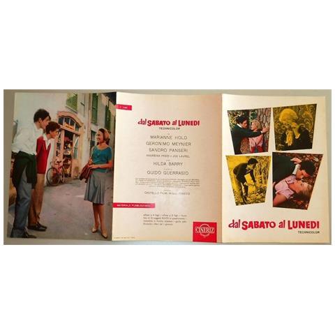 Vendilosubito Brochure 3 P Inglish Version Originale Del Film Dal Sabato Al Lunedi 1962 Raro