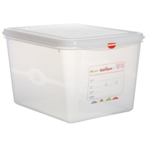 Denox Contenitore Gastronorm Gn Coperchio Ermetico Polipropilene -40°+100° Certificato Haccp Made In Spain - Gn 1/9- H6,5 - Lt 0,6