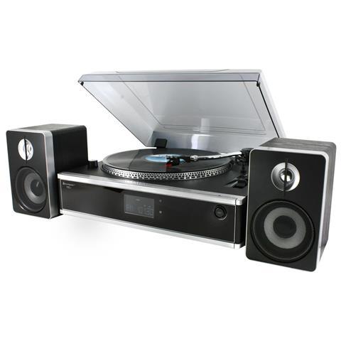 SOUNDMASTER Giradischi PL 875 33/45 Giri Lettore CD Ingresso USB Slot SD colore Nero