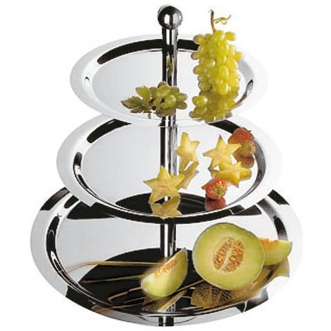 Alzata Frutta 3 Piani Inox