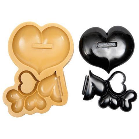 040801 - Sugarflex Gold 040801 Matrimonio Bollicine Di Cuori Base 135 X 115 H 17