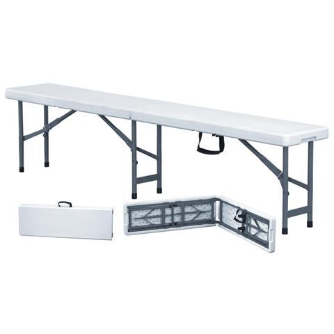 Panchina Pieghevole Bianco 183x30x43h cm