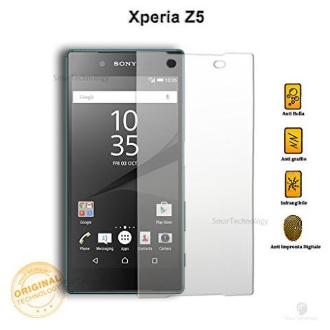 """smartechnology Pellicola Vetro Temperato Per Sony Xperia Z5 5.2"""""""" Proteggi Display Salva Schermo"""